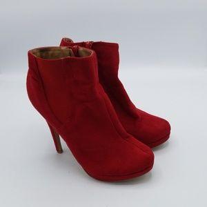 Michael Antonio heeled suede ankle booties